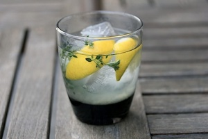 Tequila infused with thyme and lemon
